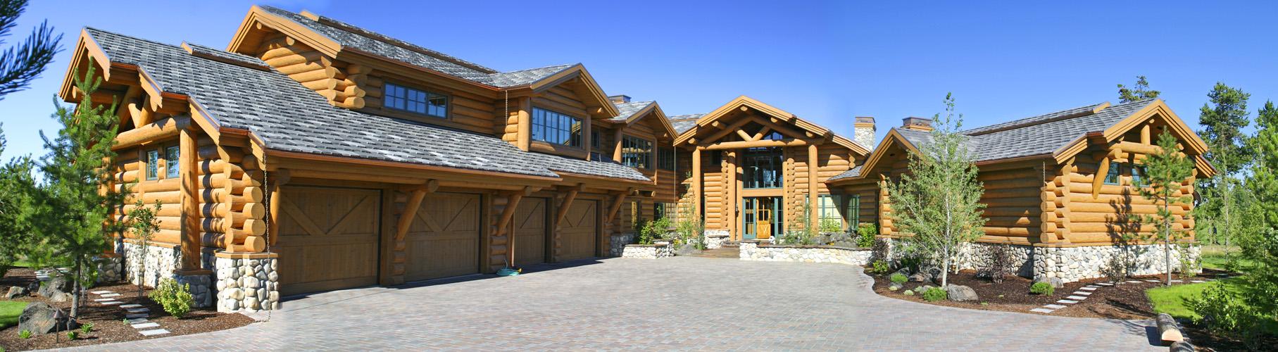 crosswater log house