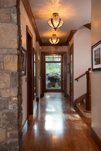 sunriver residential stone lodge architect