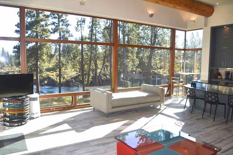 modern river cabin architecture