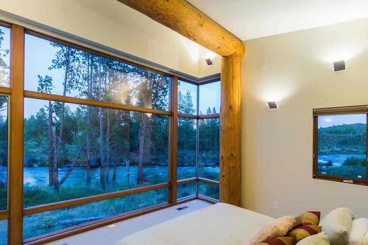 modern river cabin central oregon