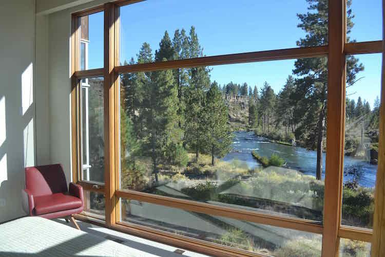 modern river cabin bend