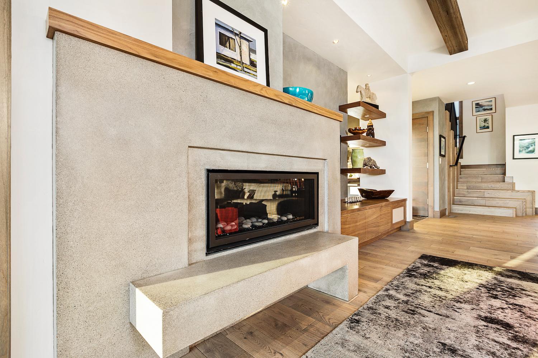 Oregon Modern Design concrete hearth