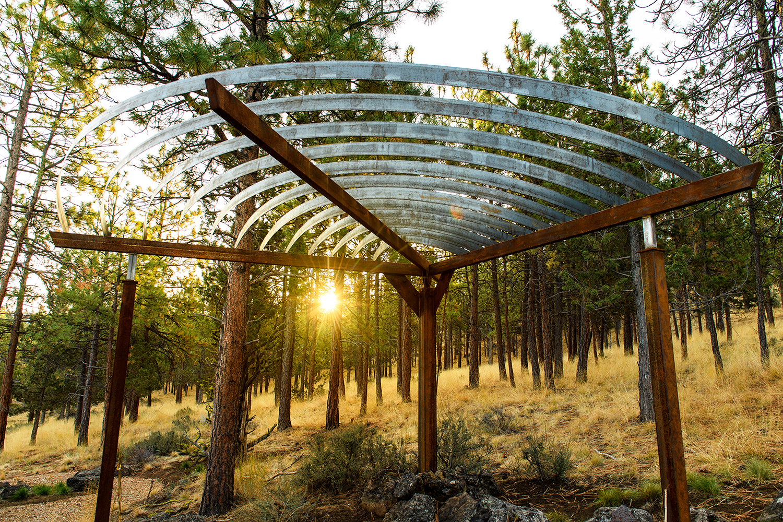 steel arbor metal canopy