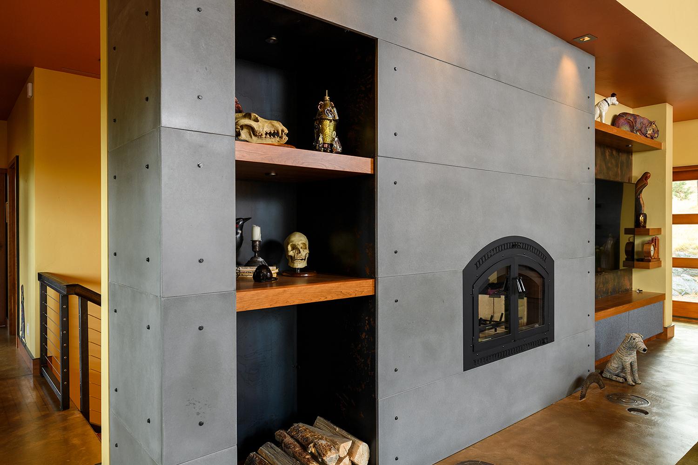 concrete fireplace cement elegance