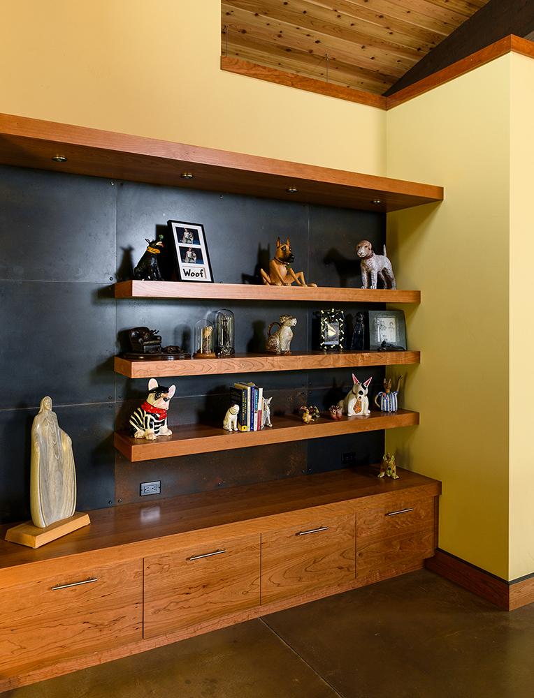 floating shelves metal backsplash cabinets