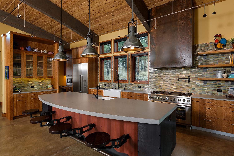 kitchen island steel container granite