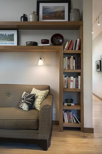 built in bookcases sofa
